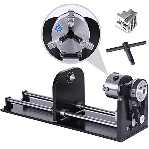Mophorn Router Rotary Axis Rotary Attachment Laser Rotary Axis for CO2 Laser Engraving Cutting Machine with 80mm Track