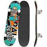 Outcamer Skateboard 78,7 x 20,3 cm Komplettes Pro Skateboard...