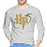 ブルームン Tシャツ 長袖 ハリーポッター Harry Potter トレーナー シャツ 上着 ファッション カットソー S Gray 綿 メンズ レディース