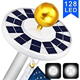 Best Flag Pole Lights - ffresiss Solar Flag Pole Light, 128 LED Flagpole Review