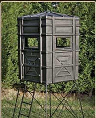Buy Bargain Hughes HP-67000 Hunting Ground 4x4 The Enforcer Box Blind w/Window Kit