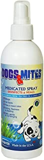 OVANTE Dogs n Mites Medicated Spray for Dogs and Puppies with Demodex Mange, Hot Spots, Wounds, Itching Skin - 8.0 OZ