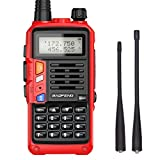 Baofeng UV-S9 Plus Tri-Band Radio with 2200mAh Large Battery,Includes 220 Antenna, Earpiece, and More Amateur (Ham) Two-Way Radio (Red)