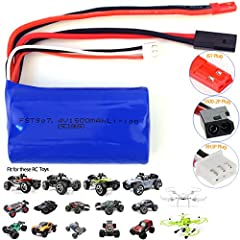 ▲7.4V 1500mAh Li-ion battery suitable for the models in the fist picture, please make sure your RC car's battery has the same connector before purchase! ▲About 8-15 Minutes after Fully Charged(2-3 hours) ▲Function: As a spare battery for a your remot...
