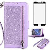 Asuwish Compatible with Samsung Galaxy S7 Edge Wallet Case
