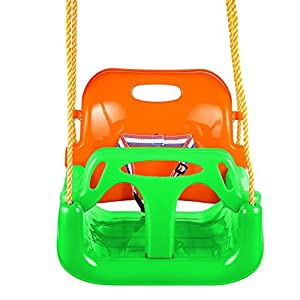 Teens 3 in 1 Adjustable Swing Set with Toddler Seat for Outside, Garden, Playground