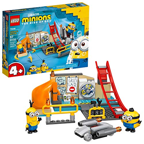 LEGO Minions: Minions in Gru's Lab (75546) Building Toy for Kids, an Exciting Toy Lab Set with Kevin and Otto Minion Figures, New 2021 (87 Pieces)