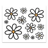 4R Quattroerre.it 6140 Adhesivos Stickers Margaritas, 10 x 12 cm