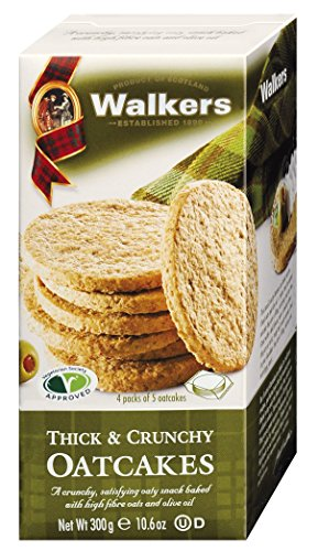Walkers Shortbread Thick & Crunchy Oatcakes 300g, 4er Pack (4 x 300 g)