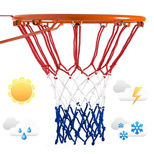 12 Loops for Indoor and Outdoor Professional Competitions 21inches Standard Net Lovely Snail Basketball Net Replacement Heavy Duty Basketball Hoop Nets