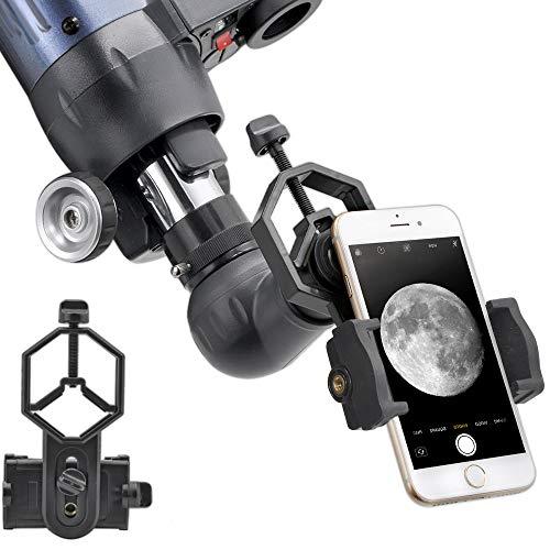 ANQILAFU ユニバーサル 携帯電話のアダプタマウント は - iPhoneのソニーサムスンモト用など - 両眼単眼スポッティングスコープ望遠鏡と顕微鏡との互換性の世界の自然を記録します フィット (スマートフォン用アダプター) [並行輸入品]