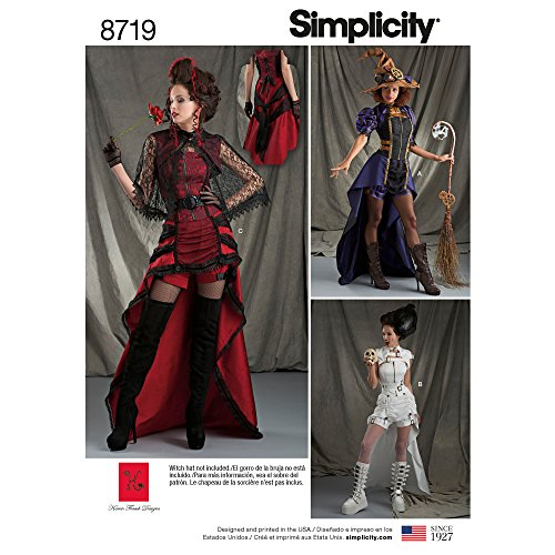 Simplicity Creative Patterns US8719H5 Damen-Kostüme