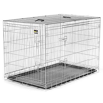 zoomundo XXL Cage Pliante en Métal avec 2 Portes pour Chien Cage Box de Transport Animaux Chiots Pliable