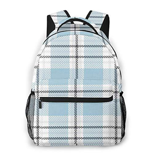 School Backpack for Boys Girls, Tartan Plaid 32 Laptop Backpack College Bags Daypack for Men Women Student