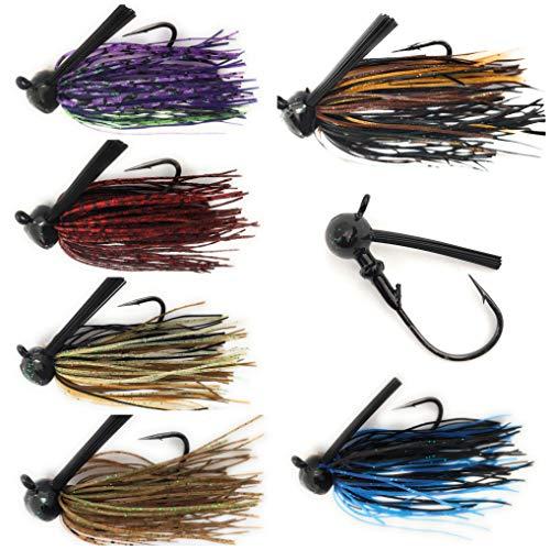 Wtrees #2700 Fishing Football Bass Jigs 6 of Pack (5/0,1/2oz)