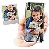 Funda Personalizada para Apple iPhone X con tu Foto, Imagen o Escritura - Estuche Suave de Gel TPU Transparente - Impresión