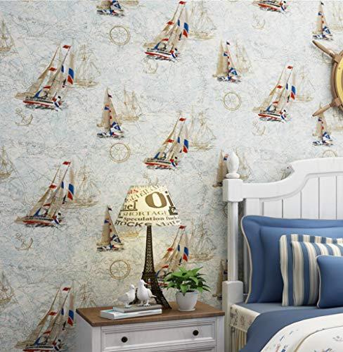 3D Hintergrundbild Wandbild Landschaft Wohnzimmer Schlafzimmermeter Gelb Blau Mittelmeer Segeln Kinderzimmer 3D Wallpaper Weltkarte Junge Mädchen Schlafzimmer Zimmer Tapetenrolle @ 350 * 245