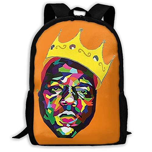 Crown Portrait Notorious B.I.G Printed School Backpack Water