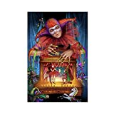 Clown-Kunst, Zirkus-Manipulation, Leinwand, Poster,