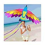 Cometa Phoenix Colorida con Cola De 150 Cm, Cometa Enorme para Principiantes con Cuerda para Adultos Y Niños, Fácil De Volar, Excelentes Actividades Al Aire Libre