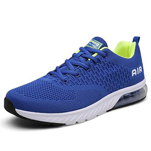 Mishansha Laufschuhe Blau Mit Dämpfung Herren Turnschuhe Leicht Straßenlaufschuhe Atmungsaktiv Running Outdoor für männer gr.40