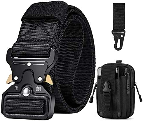 Mens Tactical Belt 1 5 Military Nylon Web Duty Belt Gift with Molle Pouch Hook product image