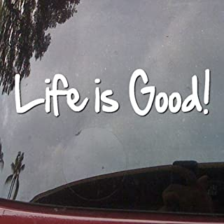 Life Is Good! Text Vinyl Car Sticker Symbol Silhouette Keypad Track Pad Decal Laptop Skin Ipad Macbook Window Truck Motorcycle