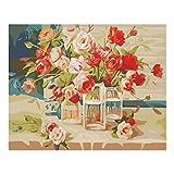 Unknow Rose Paint by Numbers para niños y adultos y principiantes, kit de regalo de pintura al óleo DIY por A-LAOWENG