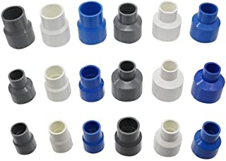 JNT- 25 to 20mm 40to 32mm 40/32 to 20/25mm PVC Straight Reducing Connectors Pipe Reducer Adapter Irrigation Water Pipe Fit...