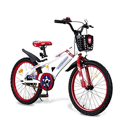 XIAOFEI Kinderfahrrad, Mountainbike 3/5/7 Jahre alt Fahrrad Balance Fahrrad Scooter Spielzeug, Magnesiumlegierung 20-Zoll Mountain Student Fahrzeug Scheibenbremse Single-Speed
