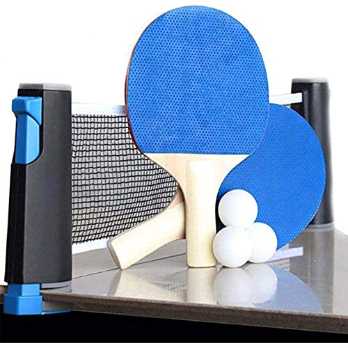 Best Bargain VictorySport Professional Table Tennis Set, Anywhere Ping Pong Equipment to-Go 3 Balls,...