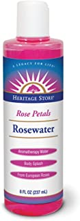 Heritage Store Rose Petals Rosewater | Facial Toner & Moisturizer | Helps Sensitive Skin, Hair & More | Alcohol Free, 100% Pure Vegan | 8 oz
