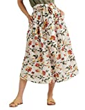 Lucky Brand Women's Long Floral Printed Sadie Skirt, Natural Multi, XS