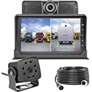 Upgrade Dash Cam Front and Rear,Homder 7'' Monitor Front Lens with G-Sensor/Loop Recording/Motion Detection,IP69 Night Vision Rear View Camera Reversing Backup Camera for Trucks,Bus,Van,RV,Trailer