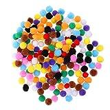 SUPVOX 200 Pcs Assorted Pompoms Multicolor Kunsthandwerk
