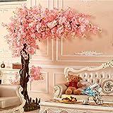 Weißer Künstlicher Kirschblüten-Baum Mit Blättern, künstliche Blühender Baum Pflanze für Hochzeit Event Party Restaurant Mall Silk Blumen Sakura Baum (3M Hoch / 2,5M Breit)