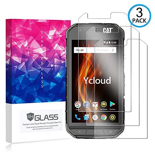Ycloud [3 Pack] Panzerglas Bildschirmschutzfolie für Cat S31, Hartglas Staubdichter, 9H kratzfester Bildschirmschutz Protector für Cat S31