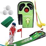 SISHUINIANHUA Cubierta Mini Golf Set de Accesorios Equipo de Golf Swing de práctica Ayuda a la formación Pone práctica de simulación de Deportes para niños Juegos Juguetes