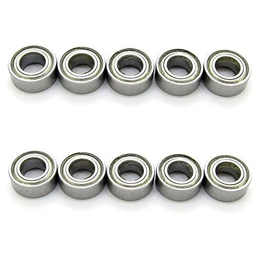 5x10x4mm Miniature Deep Groove Ball Bearing Skateboard Bearings MR105ZZ L-1050ZZ Pack of 10