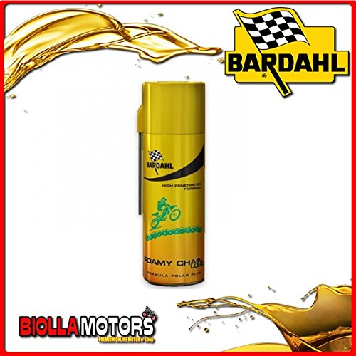 601029 Bardahl Foamy Chain Lube Lubrifiant pour chaîne d'excellente performance 400 ml