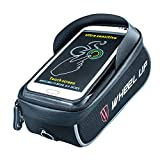 ONLY ME Bike Bag Bike Pouch, Bike Frame Bag Cycling Pannier Top Tube Wasserdicht Handlebar Taschen, Bike Bag Touch Screen für Smart Phone unter 6 Zoll,Gray