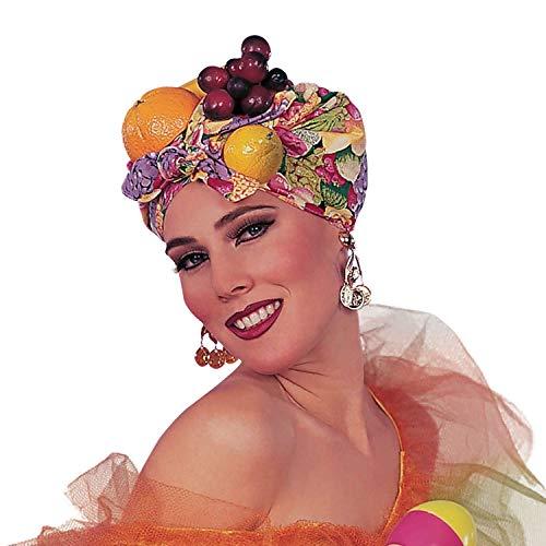 shoperama Kopftuch mit Früchten mit Früchten Brazil Obst Kopfbügel exotisch Samba Miranda Karneval in Rio Kostüm-Zubehör