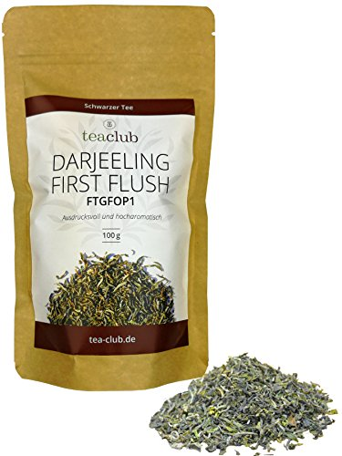 Darjeeling First Flush Ernte 2020 Schwarzer Tee 100g, Darjeeling Tee FTGFOP1 Premium Qualität TeaClub Black Tea