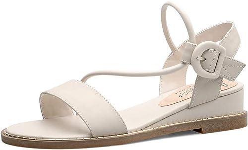 Sandales Boucle De Talon Bas De De De La Mode Féminine Chaussures Simples Manches Simples (Couleur   D, Taille   39 EU) 814