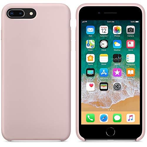 A & W 2018 Estate Ultima Custodia in Silicone per iPhone 7Plus / iPhone 8Plus 5.5inch (2017) (Rosa Sabbia)