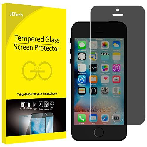 JETech Schutzfolie für iPhone SE, iPhone 5s, iPhone 5c und iPhone 5, Anti-Spähen Gehärtetem Panzerglas Blickschutzfolie