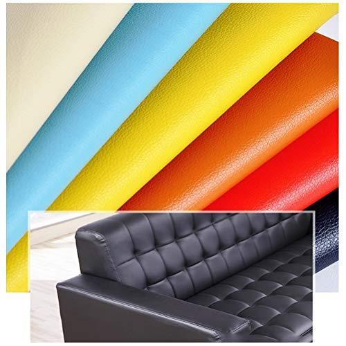 Kunstleder Meterware Lederstoff Kunstleder Polster PVC Strukturiert , Kunstleder Stoff für Polster Handwerk DIY Nähen Sofa Handtasche , Mehrfarbig (Color : 9#)