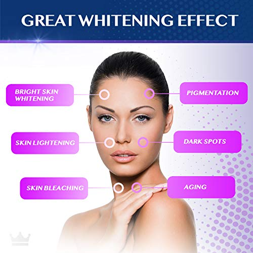 517CdXerm8L - Glutathione Whitening Pills - 90 Capsules 2000mg Glutathione - Effective Skin Lightening Supplement - Dark Spots, Melasma & Acne Scar Remover, Hyperpigmentation Treatment - Anti-Aging Antioxidant