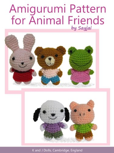 Amazon.com: Dress Up Dolls Amigurumi Crochet Patterns: 5 big dolls ... | 500x375