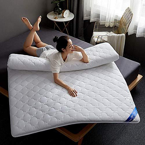 zyl Colchón de Tatami Grueso colchón de futón de Tela de algodón Plegable Almohadilla cómoda y Transpirable colchón de Piso Plegable Antideslizante Lavable a máquina